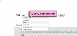 query completion