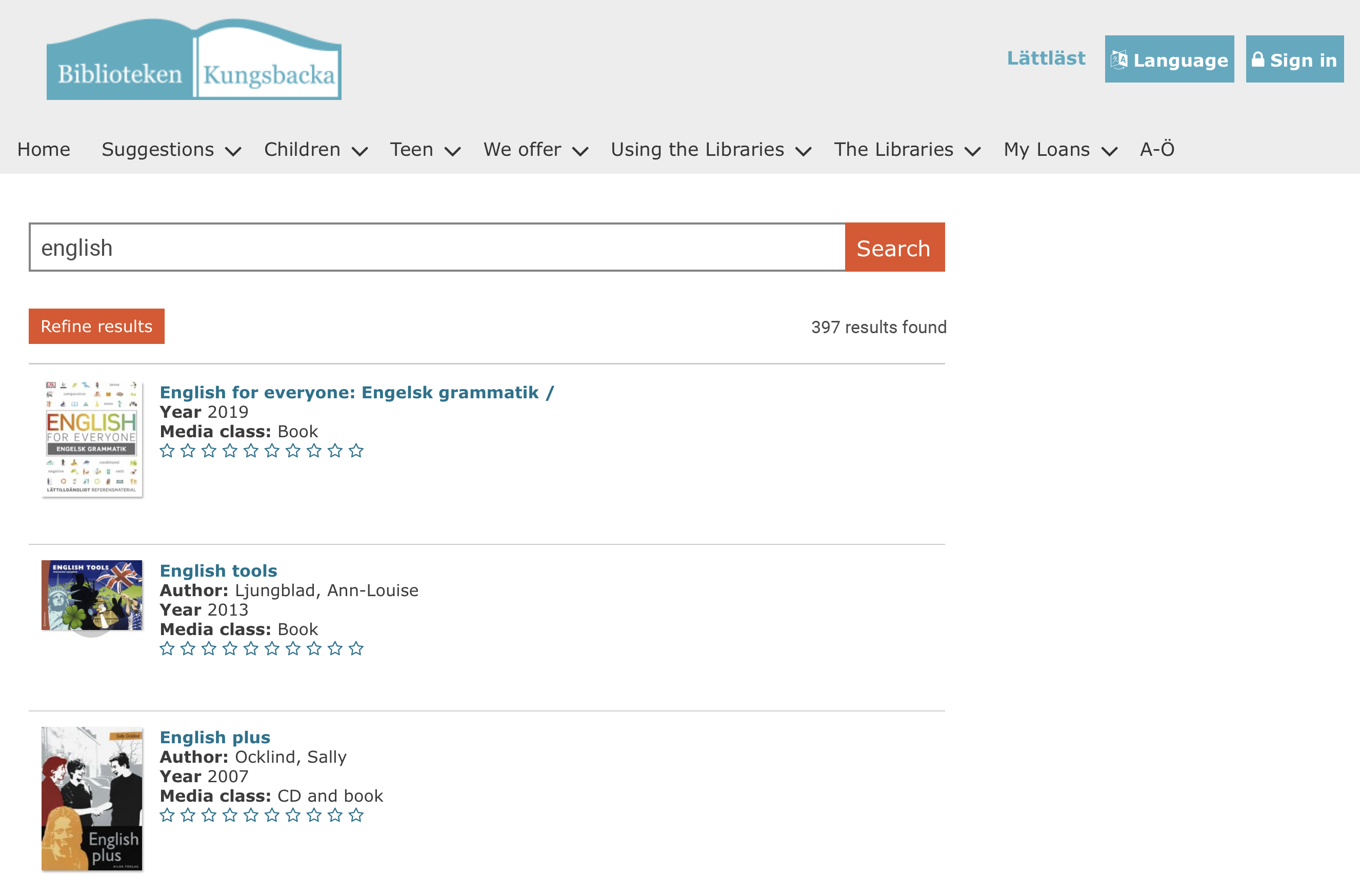 image of a not so busy search interface